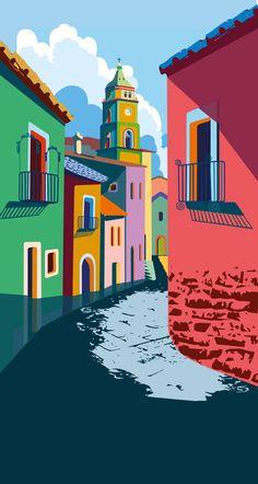 Calendar by maria sole macchia - Digital Art Art And Illustration, Graphic Design Illustration, Graphic Art, Art Illustrations, Watercolor Illustration, Wallpaper Paisajes, Kunst Poster, Poster Poster, Posters