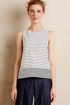 Nica Tank bis Sonntag in Brooklyn Brooklyn, Blouse Models, Fashion Project, Beautiful Blouses, Couture, Chic Outfits, Blouse Designs, Anthropologie, Clothes For Women