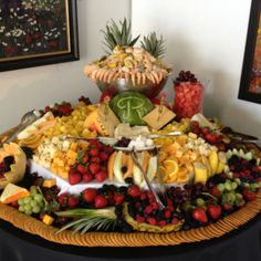 Wedding fruit and cheese table