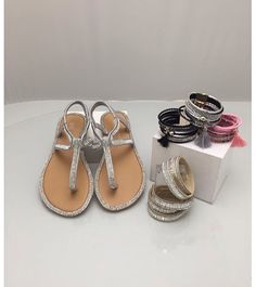 Accessorise your sandals with our bling bracelets ..X