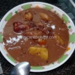 jamaican red peas soup with pigstail Jamaican Carrot Cake Recipe, Jamaican Red Pea Soup Recipe, Red Peas Soup Recipe, Jamaican Soup, Jamaican Recipes, Pig Tail Soup Recipe, Hard Dough Bread Recipe, Trotters Recipe, Canned Baked Beans
