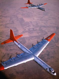 Intercontinental B-36 Bomber Flying over Texas Flatlands