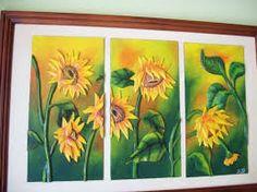Картинки по запросу cuadros de girasoles tallados en madera