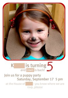 crafterhours: A Puppy Party for the Newly 5 Puppy Birthday Parties, Puppy Party, Dog Birthday, Birthday Party Themes, Birthday Ideas, Dalmatian Party, Dog Face Paints, Hot Dog Bar, School Parties
