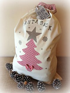 SALE Personalised Christmas Santa Sack by ClairesCraftHouse