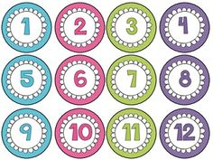 Here's a set of number circles from 1-36.