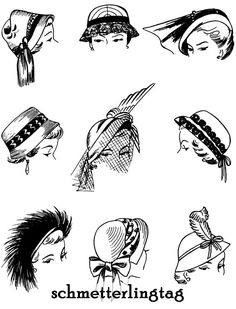 1952 Millinery Hats sketches
