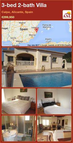 3-bed 2-bath Villa in Calpe, Alicante, Spain ►€299,950 #PropertyForSaleInSpain