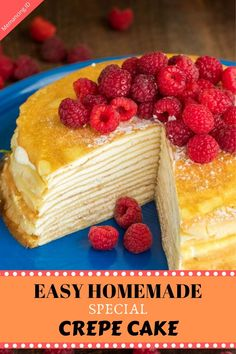 Pumpkin Cheesecake Recipes, Easy Cake Recipes, Baking Recipes, Sweet Desserts, No Bake Desserts, Homemade Crepes, Homemade Recipe, Food Carving, Crepe Cake