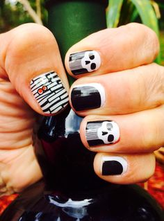 Mummified, poisoned, and eclipse nail wraps at redheadmanicures.com