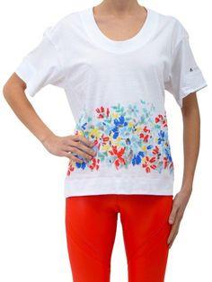 ADIDAS BY STELLA MCCARTNEY Graphic T-Shirt. #adidasbystellamccartney #cloth #topwear