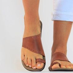 Brown Brown Flats, Brown Sandals, Leather Sandals, Gladiator Sandals, Bohemian Sandals, Summer Flats, Shops, Designer Sandals, Comfortable Sandals
