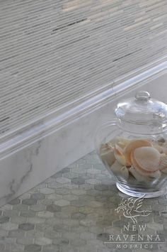 this is a beautiful way to do granite backsplash with tile mixed