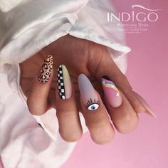Punk Nails, Edgy Nails, Grunge Nails, Stylish Nails, Simple Acrylic Nails, Best Acrylic Nails, Acrylic Nail Designs, Minimalist Nails, Hippie Nails