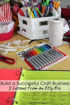 Honest and practical tips and tricks for starting and growing a successful craft business