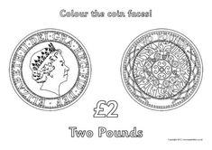 A set of simple colouring sheets featuring British coins heads and tails. Free Teaching Resources, Teacher Resources, Colouring Pages, Colouring Sheets, Color Activities, Activities For Kids, Math Classroom, Maths, Teaching Spanish