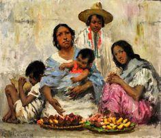Mexican Family - Francis Luis Mora (1874 – 1940, Uruguayan-born American)