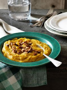 Acorn Squash-and-Pear Puree with Glazed Almonds