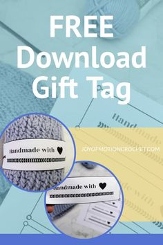 Free printable landscape tag for crochet. Free printable gift tag, quick download. Handmade with love gift tag wrap around. Easy to wrap around gift tag for handmade beanies and knitted gifts. #crochet #knit #gifttag Disney Crochet Patterns, Crochet Patterns Amigurumi, Crochet Dolls, Doll Patterns, Learn To Crochet, Easy Crochet, Free Crochet, Crochet Stitches For Beginners, Crochet Tutorials