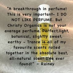 One of our favorite customer #testimonials! We are truly grateful for each and every #customer #review we received. Thank you, all of you! Read all about the 351 #customerreviews at http://www.petitvour.com/products/christy-organics-trance @petitvour #naturalperfume #organicperfume #vegan #crueltyfree #madeinaustralia #productreview #productreviews #perfumeoil #perfume #mothersday #mothersdaygift #mothersday2016 #mothers #5star #shopsmall #gift #giftguide #gifts #womenshealth #greenbeauty