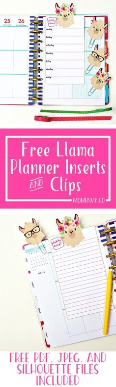 Free Llama Planner Inserts 038 Planner Clips Free Planner Accessories Free Llama Planner Inserts 038 Planner Clips Free Planner Accessories Nicole Lynn southernscar My Life Planner Free Llama Planner nbsp hellip planner printable free To Do Planner, Free Planner, Planner Pages, Printable Planner, Happy Planner, Planner Stickers, Free Printables, Planner Ideas, Planner Diy
