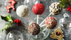 Christmas cake pops made easy. An ordinary shop-bought cake becomes a magical sugar plum fairy treat.