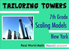 7th grade students use data on the tallest building in their chosen city to practice working with scales and creating scale drawings. As architects, they have to create a replica of a building for a special exhibition, solving problems and learning vocabulary from the industry along the way. Common Core Aligned.