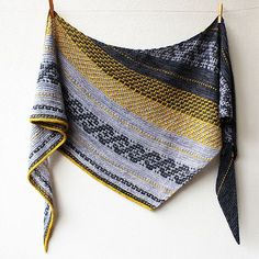 ac423919 This shawl is all about slip-stitch and mosaic knitting. It combines garter  stitch