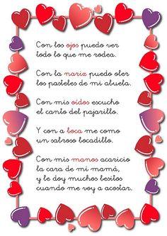 Poema infantil sobre los sentidos para educación infantil