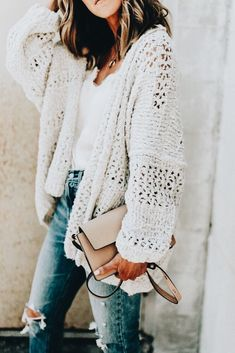 Over sized knit super cute and talk about comfy