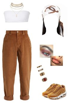 """""""paps"""" by baaby-dooll ❤ liked on Polyvore featuring Miu Miu, Jade Swim, Charlotte Russe, NIKE, Chanel and Forever 21"""