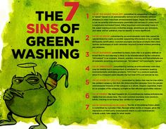 7 sins of Greenwashing. For truly natural cleaning and home products: www.TidyThyme.com