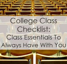 College Class Checklist   SR TRends
