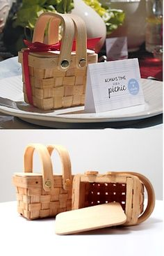 when #uPARTY: miniature #picnic baskets? Oh yes!
