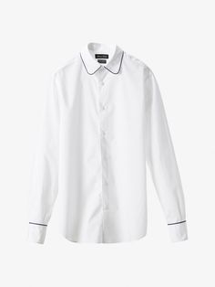 Autumn Spring summer 2017 Men´s LIMITED EDITION PIPED COTTON SHIRT at Massimo Dutti for 89.5. Effortless elegance!
