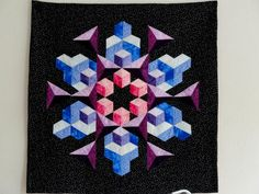 Space Crystal Quilt #quilt#crystal#patchwork#quilt