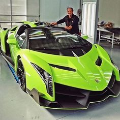 """""""Lamborghini Veneno Roadster! Power-to-weight ratio of just 1,99kg/HP will give you eye-popping performance  (but of course even all that is still half…"""""""