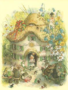 :: Sweet Illustrated Storytime :: Illustration by Fritz Baumgarten Baumgarten, Mushroom Art, Fairytale Art, Woodland Creatures, Fairy Art, Beatrix Potter, Children's Book Illustration, Whimsical Art, Vintage Art