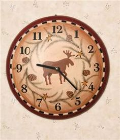 MOOSE LODGE WALL CLOCK