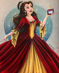 I'm so excited for Christmas this year it's sick. I've wanted to draw Belle in her Christmas gown for a long time!!!! I get a little carried away with fabric as it's my favorite thing to color, and I like to make these gowns as full and textured as I...