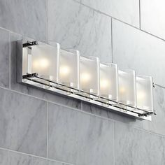 "Possini Euro Design Glass Bands 23 3/8"" Wide Bath Light"