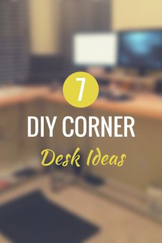 7 DIY Corner Desk Ideas  #KeeKlamp #diy #pipedesk