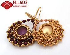 Tutorial Tara Earrings Beading tutorial Instant por Ellad2 en Etsy
