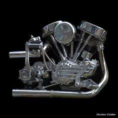 Harley Davidson Panhead, Harley Davidson Engines, Harley Bobber, Classic Harley Davidson, Harley Bikes, Moto Chopper, Chopper Motorcycle, Motorcycle Art, Vintage Bikes