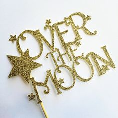 Over The Moon Cake toppers cake toppers by sprinkledwithpaper