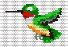Green Hummingbird Bead Pattern