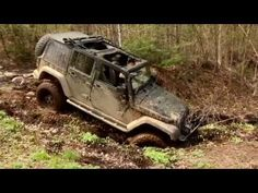 4x4 Off Road Following Jeep Rubicon