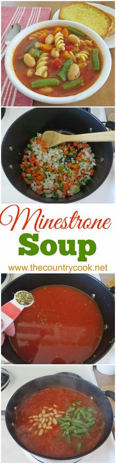 Minestrone Soup - a perfect spring and summer  soup. An Italian tomato-based soup with veggies, beans, pasta and Italian seasoning. So flavorful. Serve with a crisp, green salad and breadsticks! So, so good!!