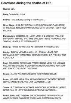 There are a few other deaths one could mention, but yes. This sums it up. Hedwig and Fred were the most shocking.