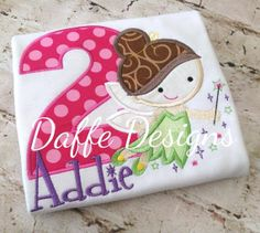 Tinkerbell Fairy Cutie Birthday Shirt Personalized by daffedesigns, $25.00